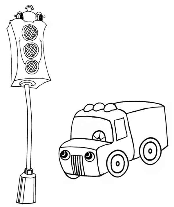 Traffic Light Coloring Page Print Out